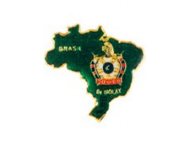 BROCHE DE MOLAY MAPA DO BRASIL