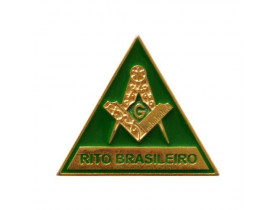 ALFINETE ESQUADRO E COMPASSO RITO BRASILEIRO