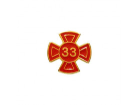 ALFINETE GRAU 33 VERMELHO