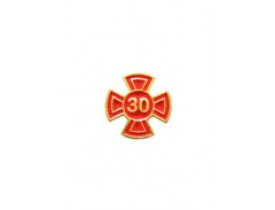 ALFINETE GRAU 30 VERMELHO