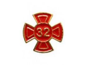 ALFINETE GRAU 32 VERMELHO