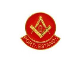 ALFINETE PORTA-ESTANDARTE ESQUADRO E COMPASSO VERMELHO